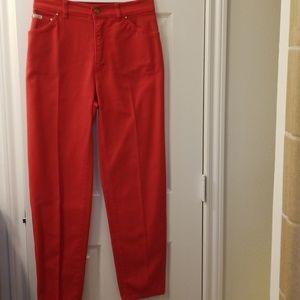 Orange/red/vintage/unworn/Escada Jeans 29